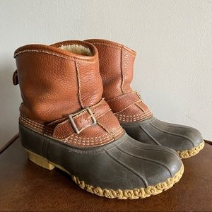 L.L. Bean • Shearling Lined Duck Boots